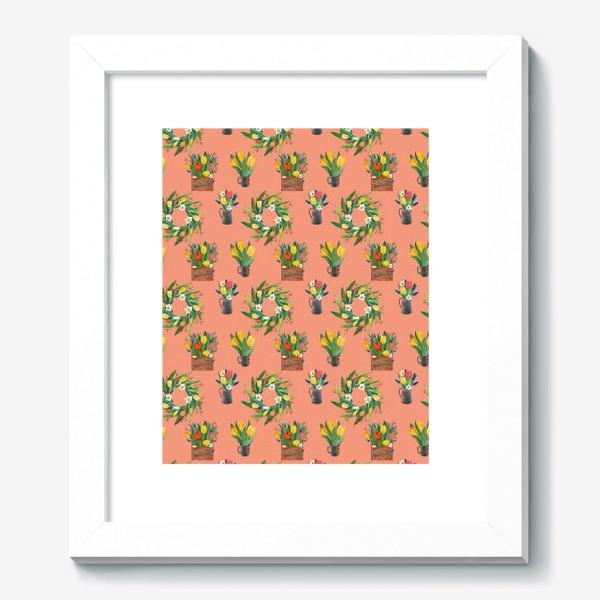 Картина «Паттерн весенние цветы»