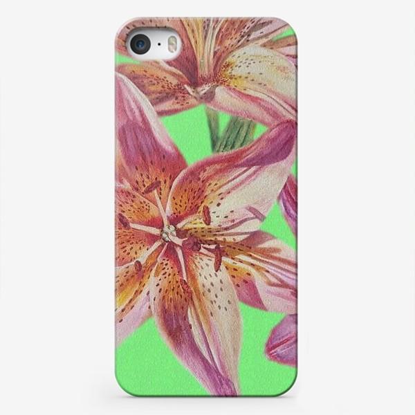 Чехол iPhone «Садовые лилии»