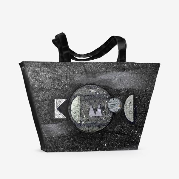 Пляжная сумка «Космос леттеринг»