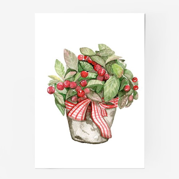 Постер «Цветок в горшочке»