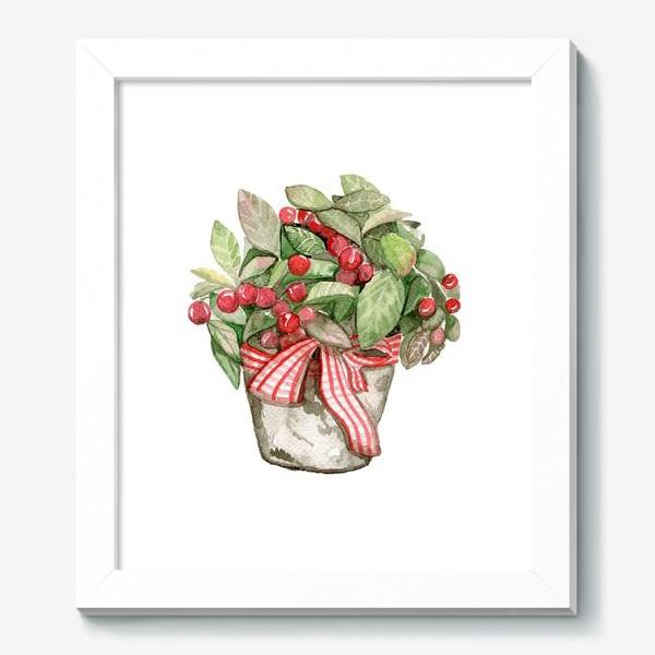 Картина «Цветок в горшочке»