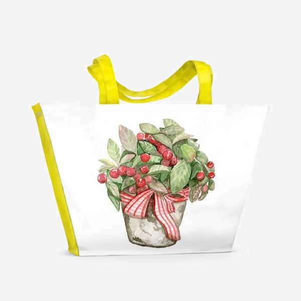 Пляжная сумка «Цветок в горшочке»