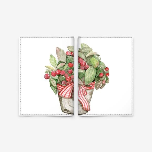 Обложка для паспорта «Цветок в горшочке»