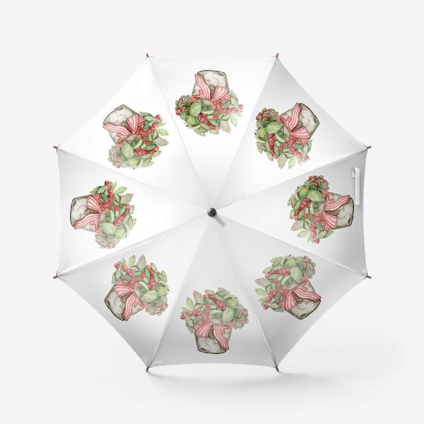 Зонт «Цветок в горшочке»