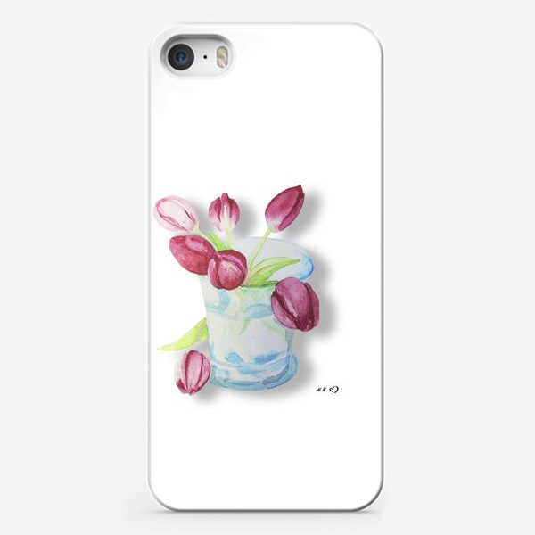 Чехол iPhone «Тюльпаны в стакане Tulips»