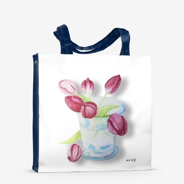 Сумка-шоппер «Тюльпаны в стакане Tulips»