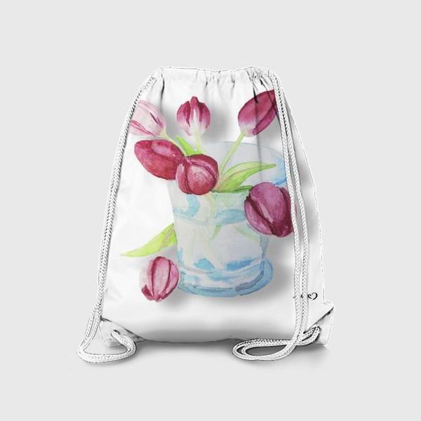 Рюкзак «Тюльпаны в стакане Tulips»
