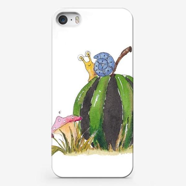 Чехол iPhone «Улитка на арбузе»