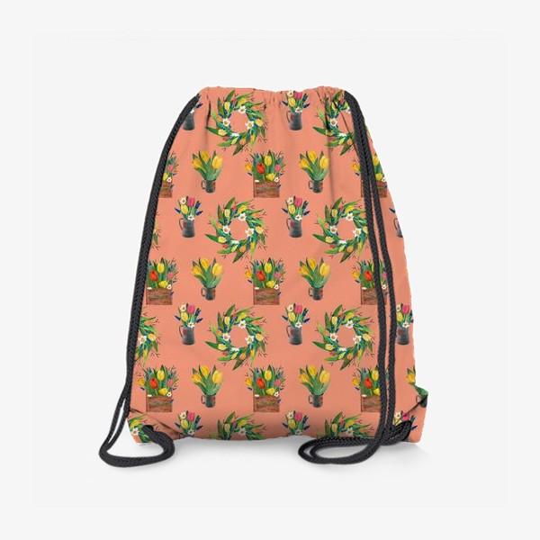 Рюкзак «Паттерн весенние цветы»