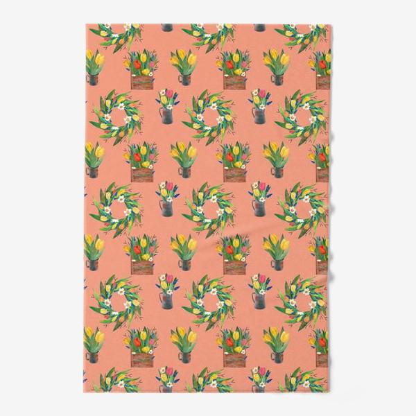 Полотенце «Паттерн весенние цветы»