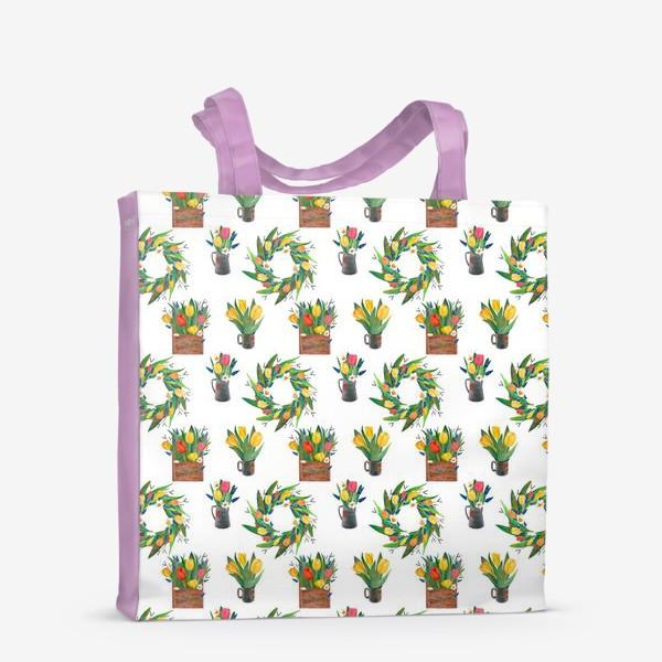 Сумка-шоппер «Паттерн весенние цветы»