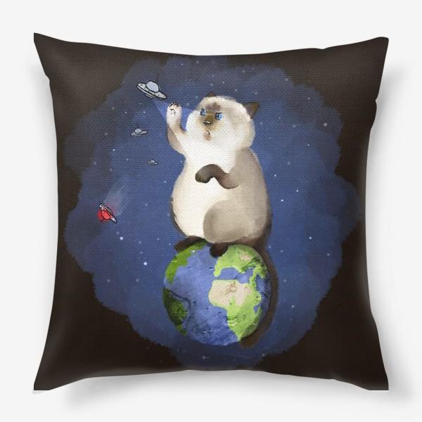 Подушка «Кот космический защитник»