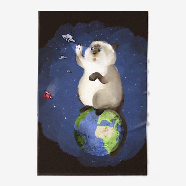Полотенце «Кот космический защитник»