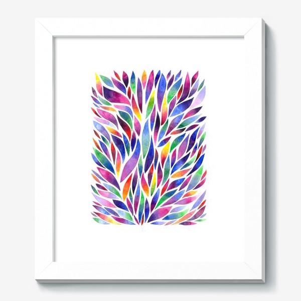 Картина «Разноцветная акварельная абстракция»