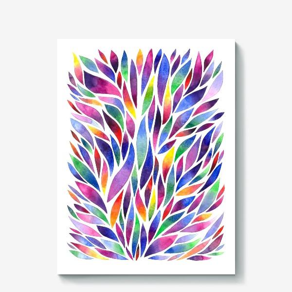 Холст «Разноцветная акварельная абстракция»
