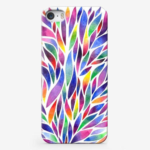 Чехол iPhone «Разноцветная акварельная абстракция»