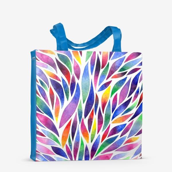Сумка-шоппер «Разноцветная акварельная абстракция»