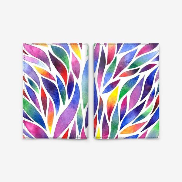 Обложка для паспорта «Разноцветная акварельная абстракция»