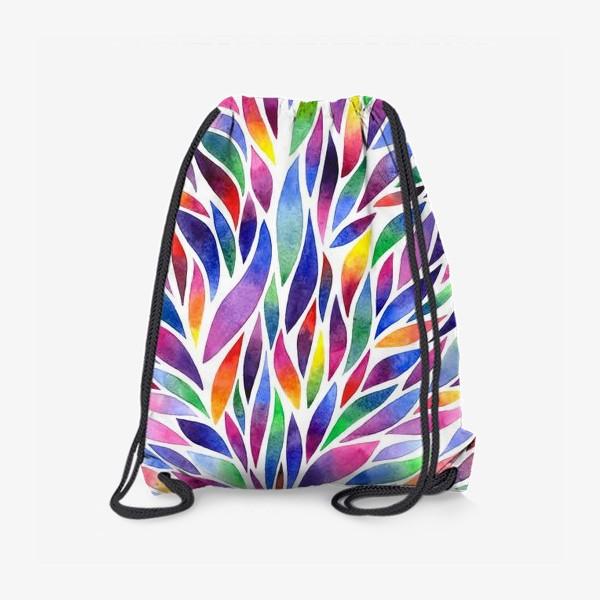 Рюкзак «Разноцветная акварельная абстракция»