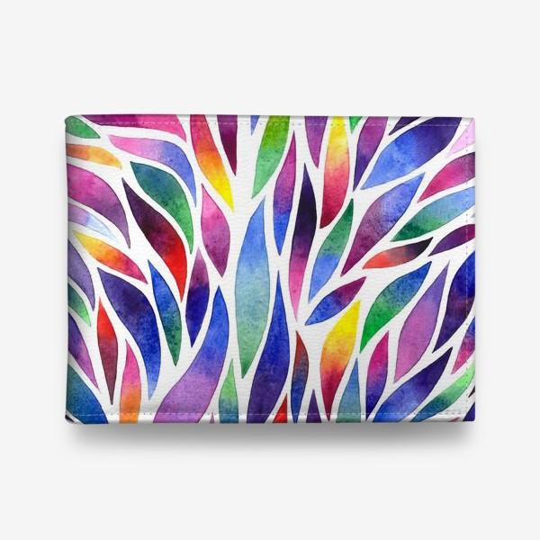 Кошелек «Разноцветная акварельная абстракция»
