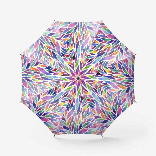 Зонт «Разноцветная акварельная абстракция»