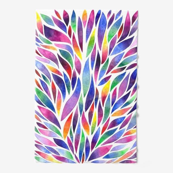 Полотенце «Разноцветная акварельная абстракция»