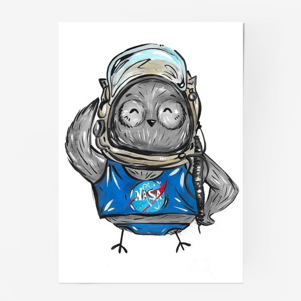 Постер «Совушка Фильх - космонавт»