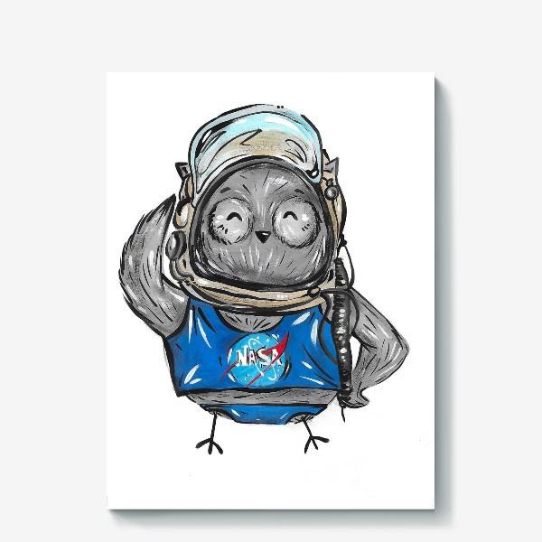 Холст «Совушка Фильх - космонавт»