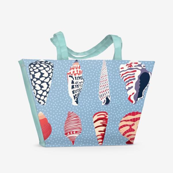 Пляжная сумка «Ракушки - морские сокровища»
