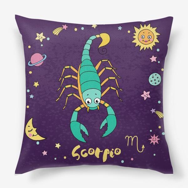 Подушка «Космос. Скорпион»