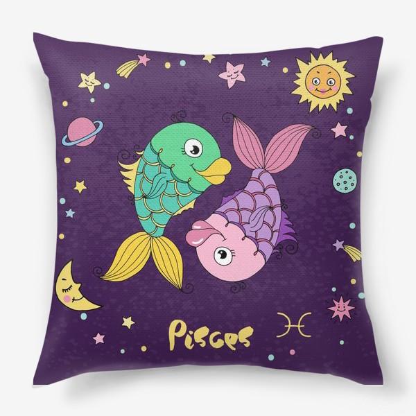 Подушка «Космос. Рыбы»