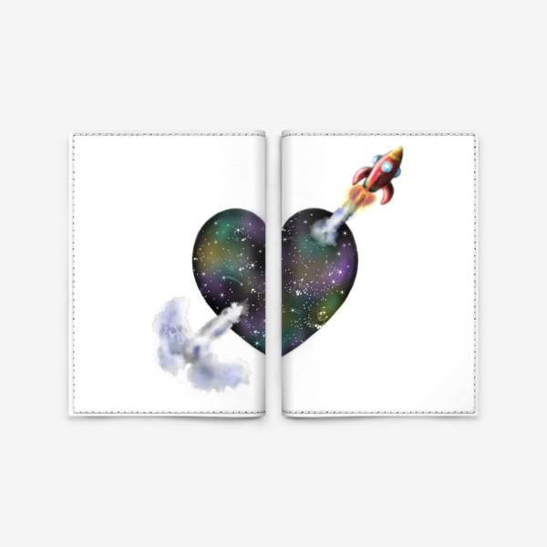 Обложка для паспорта «Cosmic Love »