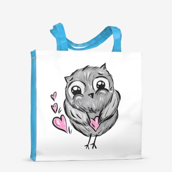 Сумка-шоппер «Сова с сердечками»