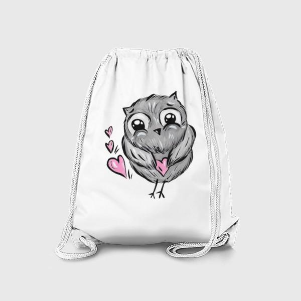 Рюкзак «Сова с сердечками»