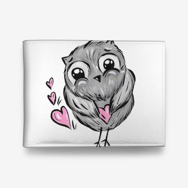 Кошелек «Сова с сердечками»