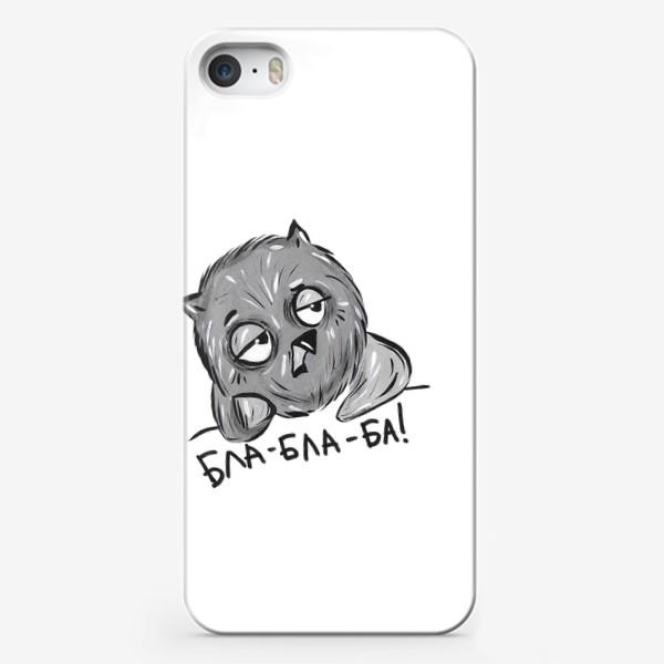 Чехол iPhone «Скучающая  сова»