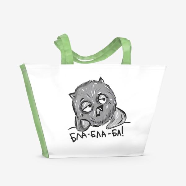 Пляжная сумка «Скучающая  сова»