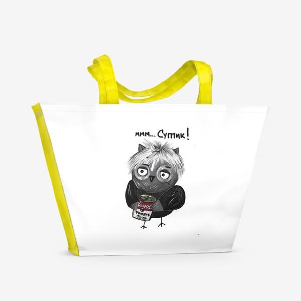 Пляжная сумка «Сова Уорхол»