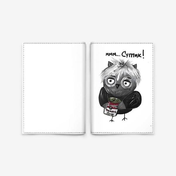 Обложка для паспорта «Сова Уорхол»