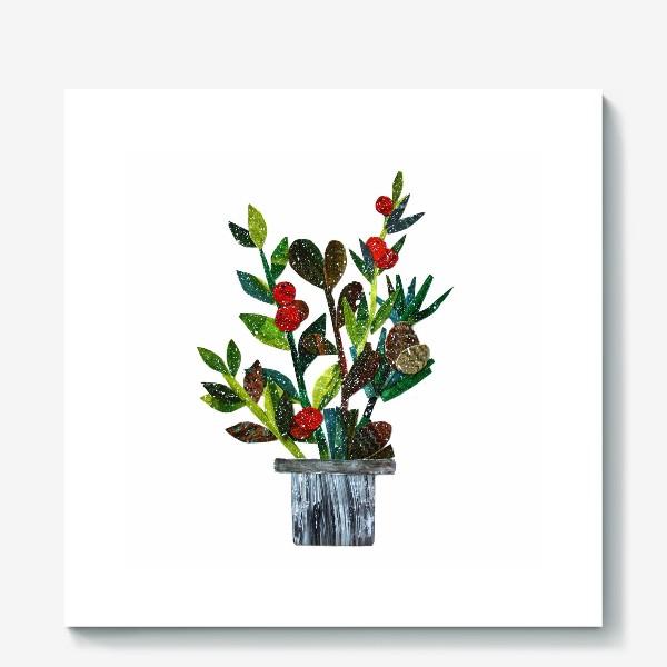 Холст «с ягодами»