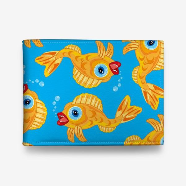 Кошелек «Золотая рыбка в воде декоративный узор»