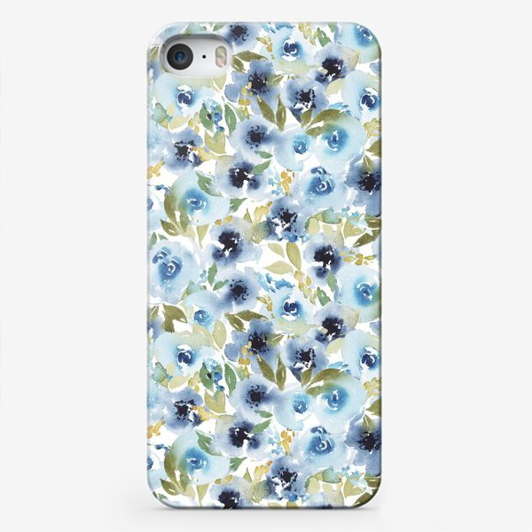 Чехол iPhone «голубые розы »