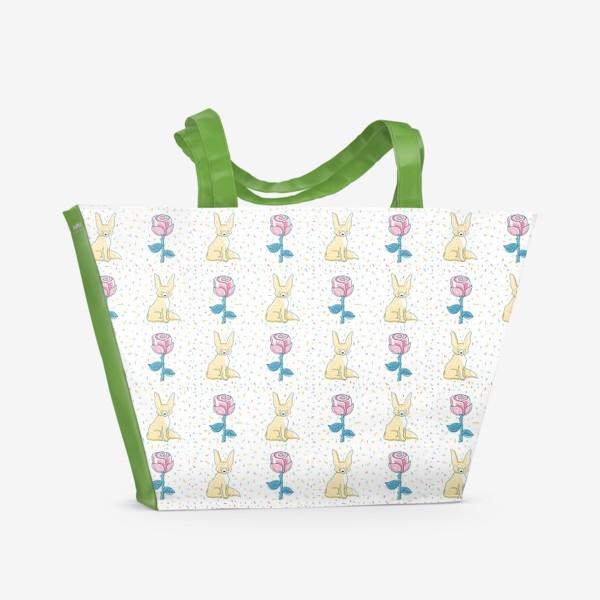 Пляжная сумка «МАЛЕНЬКИЙ ПРИНЦ: ЛИС И РОЗА»