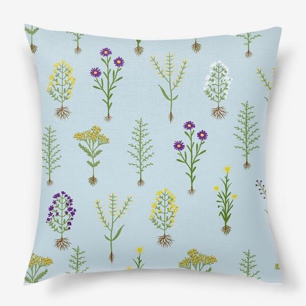 Подушка «Растительный паттерн»