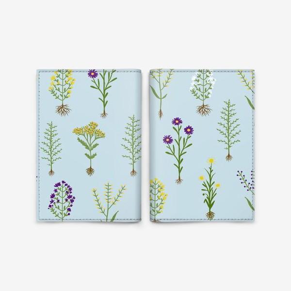 Обложка для паспорта «Растительный паттерн»