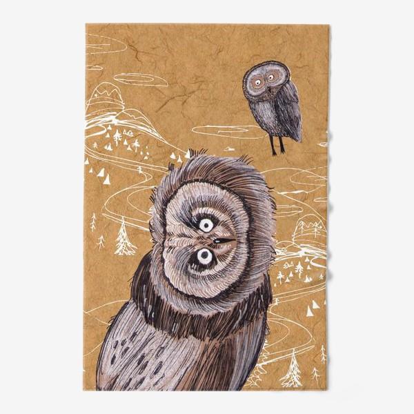 Полотенце «Удивленная сова»