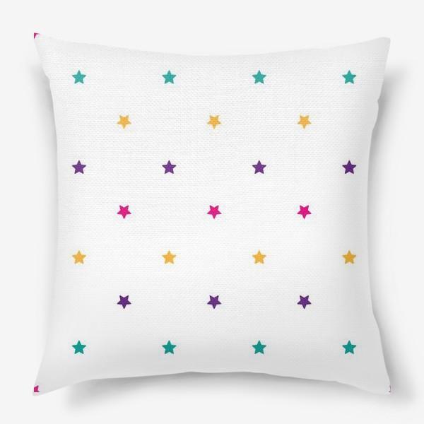 Подушка «Разноцветные звезды»