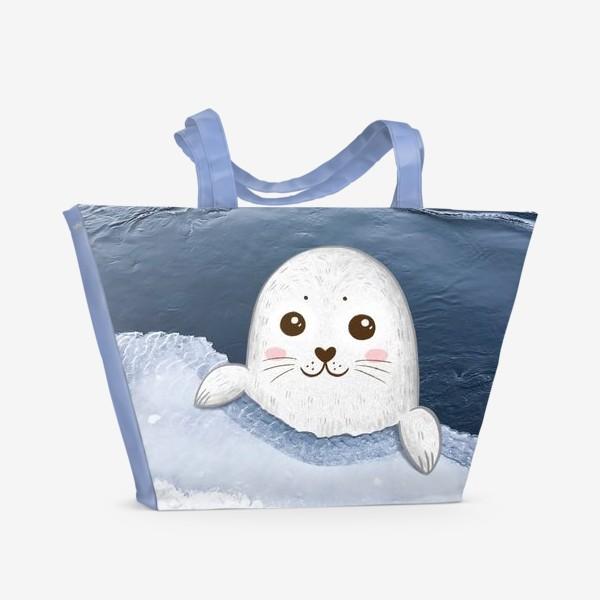 Пляжная сумка «Милый тюлень»
