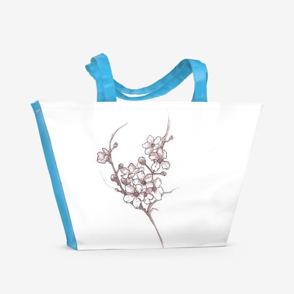 Пляжная сумка «Ветка сакуры»