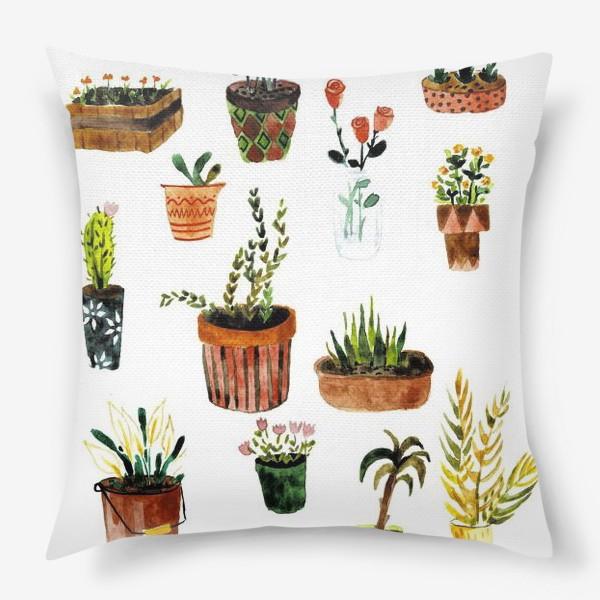 Подушка «Комнатные растения»